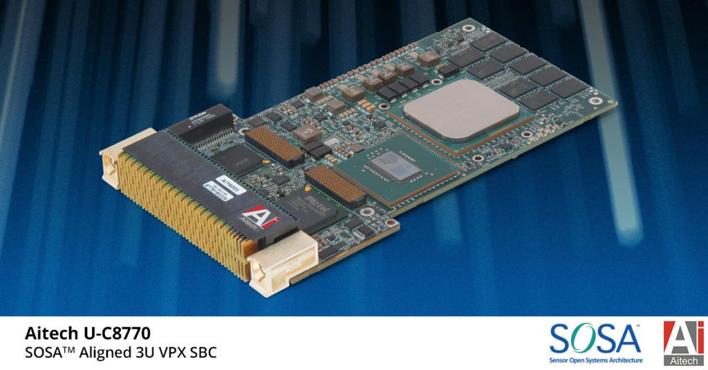 Aitech U-C8770 3U VPX SBC News Release Photo