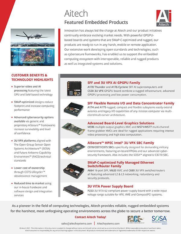 Aitech Featured Product Flyer